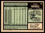 1971 O-Pee-Chee #153  Harry Howell  Back Thumbnail