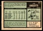 1971 O-Pee-Chee #212  Lou Angotti  Back Thumbnail