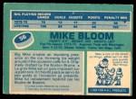 1976 O-Pee-Chee NHL #56  Mike Bloom  Back Thumbnail