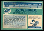 1976 O-Pee-Chee NHL #85  John Gould  Back Thumbnail