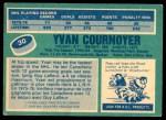 1976 O-Pee-Chee NHL #30  Yvan Cournoyer  Back Thumbnail