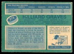 1976 O-Pee-Chee NHL #273  Hilliard Graves  Back Thumbnail