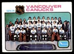 1975 Topps #97   Canucks Team Checklist Front Thumbnail