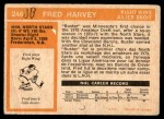 1972 O-Pee-Chee #246  Fred Harvey  Back Thumbnail