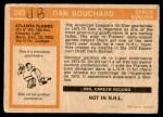 1972 O-Pee-Chee #203  Dan Bouchard  Back Thumbnail