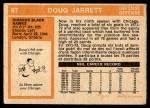 1972 O-Pee-Chee #97  Doug Jarrett  Back Thumbnail