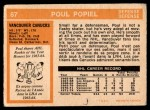 1972 O-Pee-Chee #67  Paul Popiel  Back Thumbnail