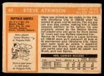 1972 O-Pee-Chee #40  Steve Atkinson  Back Thumbnail