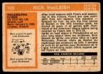1972 O-Pee-Chee #105  Rick MacLeish  Back Thumbnail