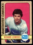 1972 O-Pee-Chee #202  Richard Lemieux  Front Thumbnail