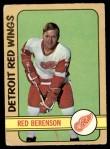 1972 O-Pee-Chee #123  Red Berenson  Front Thumbnail