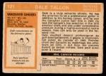 1972 O-Pee-Chee #121  Dale Tallon  Back Thumbnail