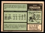 1971 O-Pee-Chee #179  Norm Ferguson  Back Thumbnail