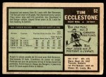 1971 O-Pee-Chee #52  Tim Ecclestone  Back Thumbnail