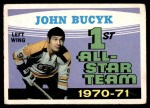 1971 O-Pee-Chee #255   -  Johnny Bucyk 1st All-Star Team Front Thumbnail