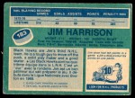 1976 O-Pee-Chee NHL #183  Jim Harrison  Back Thumbnail