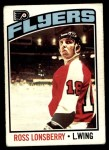 1976 O-Pee-Chee NHL #201  Ross Lonsberry  Front Thumbnail