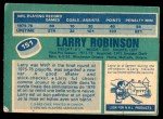 1976 O-Pee-Chee NHL #151  Larry Robinson  Back Thumbnail