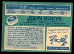 1976 O-Pee-Chee NHL #95  Johnny Bucyk  Back Thumbnail
