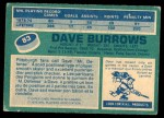 1976 O-Pee-Chee NHL #83  Dave Burrows  Back Thumbnail