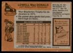 1975 Topps #204  Lowell MacDonald   Back Thumbnail