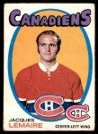 1971 O-Pee-Chee #71  Jacques Lemaire  Front Thumbnail