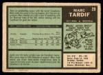 1971 O-Pee-Chee #29  Marc Tardif  Back Thumbnail