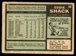 1971 O-Pee-Chee #96  Eddie Shack  Back Thumbnail