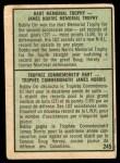 1971 O-Pee-Chee #245   -  Bobby Orr Norris / Hart Trophy Back Thumbnail
