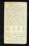 1911 T205  Larry McLean  Back Thumbnail