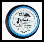 1963 Salada Metal Coins #42  Ray Herbert  Back Thumbnail