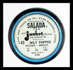 1963 Salada Metal Coins #43  Milt Pappas  Back Thumbnail