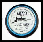 1963 Salada Metal Coins #55  Leon Wagner  Back Thumbnail