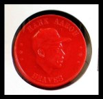1959 Armour Coins #1 RED  Hank Aaron  Front Thumbnail