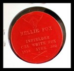 1959 Armour Coins #9 RED Nelson 'Nellie' Fox  Back Thumbnail