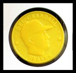 1960 Armour Coins #7 YEL Del Crandall  Front Thumbnail