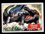 1966 Topps Batman Red Bat #2 RED  Grappling a Gator Front Thumbnail