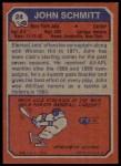 1973 Topps #24  John Schmitt  Back Thumbnail