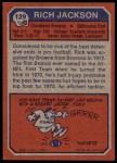 1973 Topps #129  Rich Jackson  Back Thumbnail