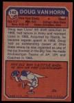 1973 Topps #142  Doug Van Horn  Back Thumbnail