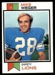 1973 Topps #39  Mike Weger  Front Thumbnail
