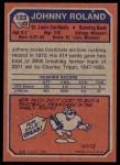 1973 Topps #123  Johnny Roland  Back Thumbnail