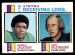 1973 Topps #3   -  Fred Biletnikoff / Harold Jackson Receiving Leaders Front Thumbnail