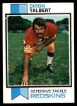 1973 Topps #19  Diron Talbert  Front Thumbnail