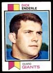 1973 Topps #22  Dick Enderle  Front Thumbnail