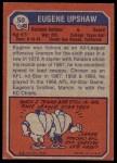 1973 Topps #50  Gene Upshaw  Back Thumbnail