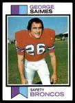 1973 Topps #78  George Saimes  Front Thumbnail
