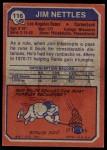 1973 Topps #116  Jim Nettles  Back Thumbnail