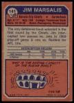 1973 Topps #141  Jim Marsalis  Back Thumbnail