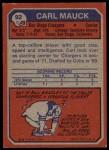 1973 Topps #92  Carl Mauck  Back Thumbnail
